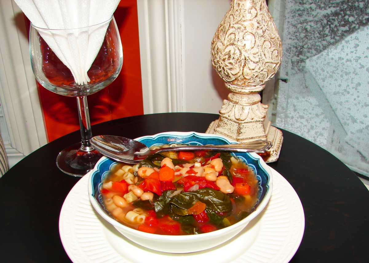 Winter Veggie Minestrone Soup