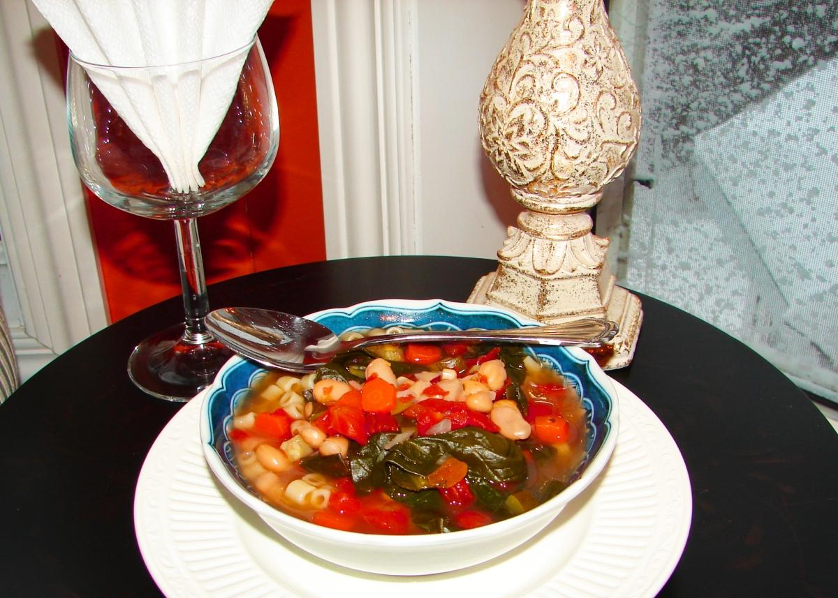 Winter Veggie Minestrone Soup